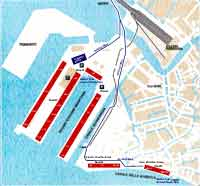 Venice Port Area: Map by Venice Limousine Company with Terminal Gate Numbers, Meeting Points, Water Taxi Arrival/Departure Points. DOWNLOAD with different kind of Quality