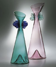 Venice Murano Glass: Dama Vases, Morgana Glassworks collection