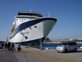 Venice Limousine Cruise Ship Transfer Services: Our Luxury Mercedes Mini-Van near the Millenium Cruise Ship