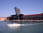Venice Port: Water Taxi service in front of the Tower at the 103 Terminal Area